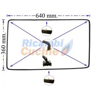 guarnizione forno 4 lati  4 lunette e 2 ganci centrali