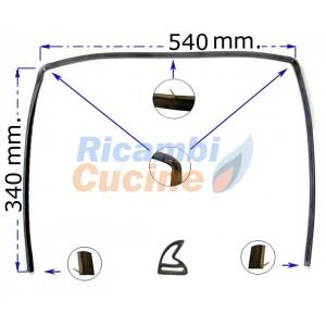 guarnizione forno con 3 lati  2 lunette 2 fermi ed 1 gancio centrale * merloni - varie marche