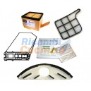 kit folletto vk135 composto da filtro hepa + griglia motore + profumatori + 6 sacchi filtro + sottospazzola