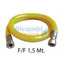 "TUBO FLESSIBILE F/F 1/2"" DA 1 METRO E MEZZO I GIG 7129/92 DM21/04/1993 UNI CIG 9891/1998 EN 14800"