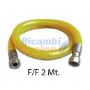 "TUBO FLESSIBILE F/F 1/2"" DA 2 METRI I GIG 7129/92 DM21/04/1993 UNI CIG 9891/1998 EN 14800"
