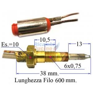 termocoppia per piano cottura valvolato - varie marche 600 mm.