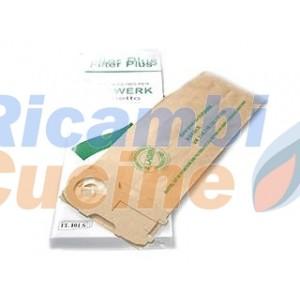confezione 8 sacchi per aspirapolvere Vorwerk folletto VK 118 - VK 119 - VK 120 - VK 121 - VK 122