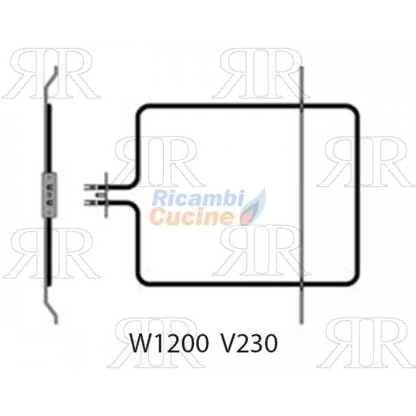 RESISTENZA CIELO FORNO ONOFRI-WHIRLPOOL-BEKO W1200 V230 ...