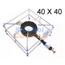FORNELLONE IN GHISA CON TELAIO IN ACCIAIO 40 cm. x 40 cm.